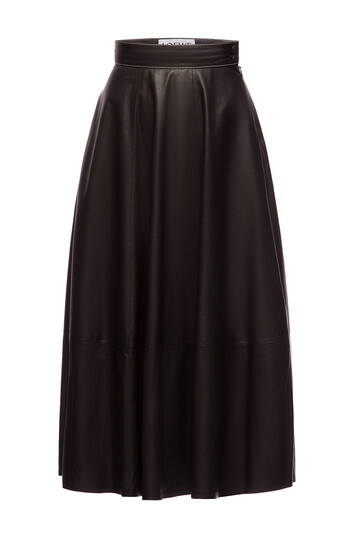 LOEWE Skater Skirt Negro front