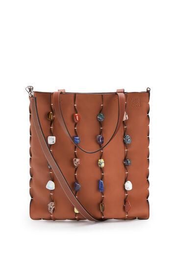 LOEWE Vertical Tote Bag In Soft Grained Calf Tan pdp_rd