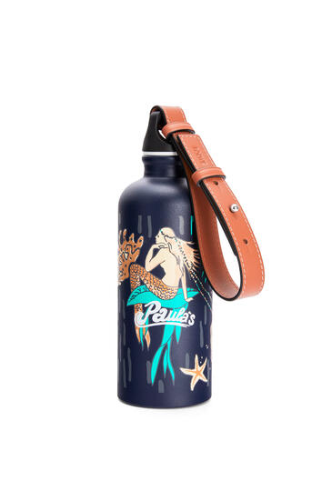 LOEWE Bottle in printed aluminium and calfskin Marine pdp_rd