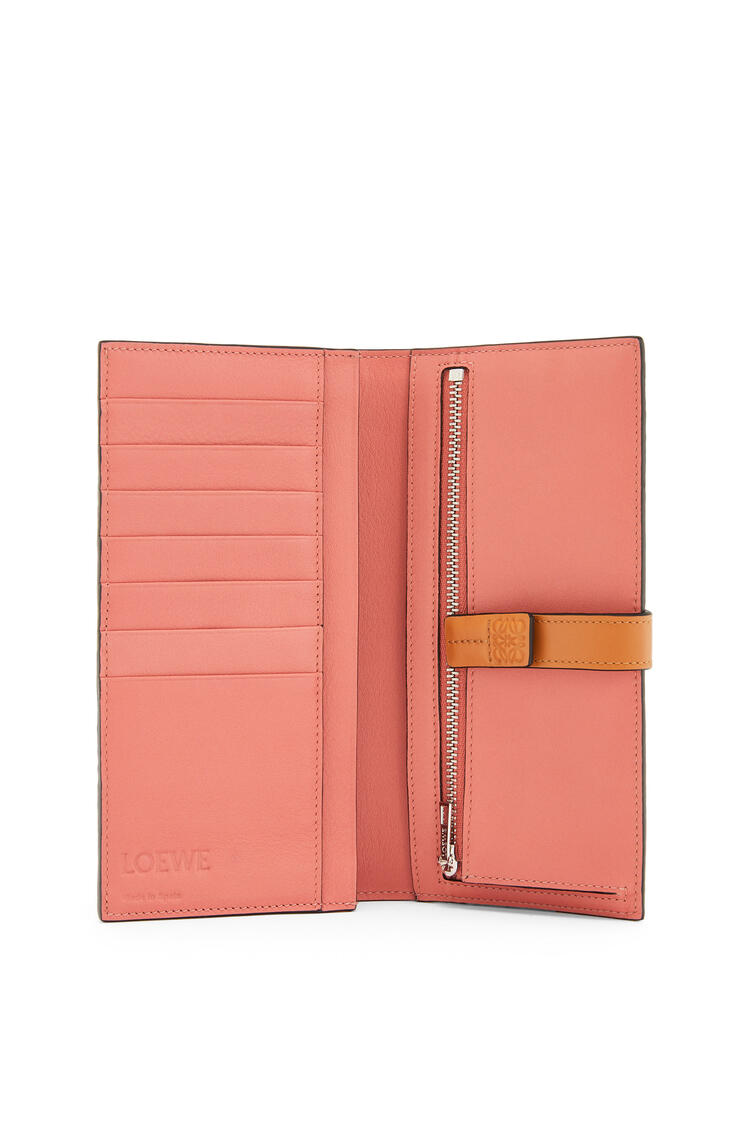 LOEWE Large vertical wallet in soft grained calfskin Light Oat/Honey pdp_rd