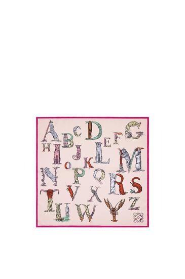 LOEWE 90 x 90 cm アルファベット スカーフ(シルク) ピンク pdp_rd