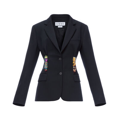 LOEWE Embroidered Knot Jacket Black front