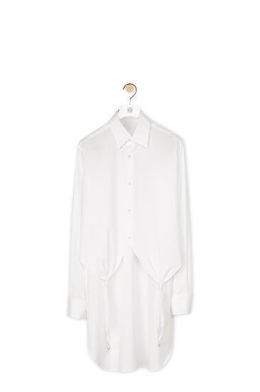 LOEWE Camisa en algodón con nudos y perlas Blanco pdp_rd