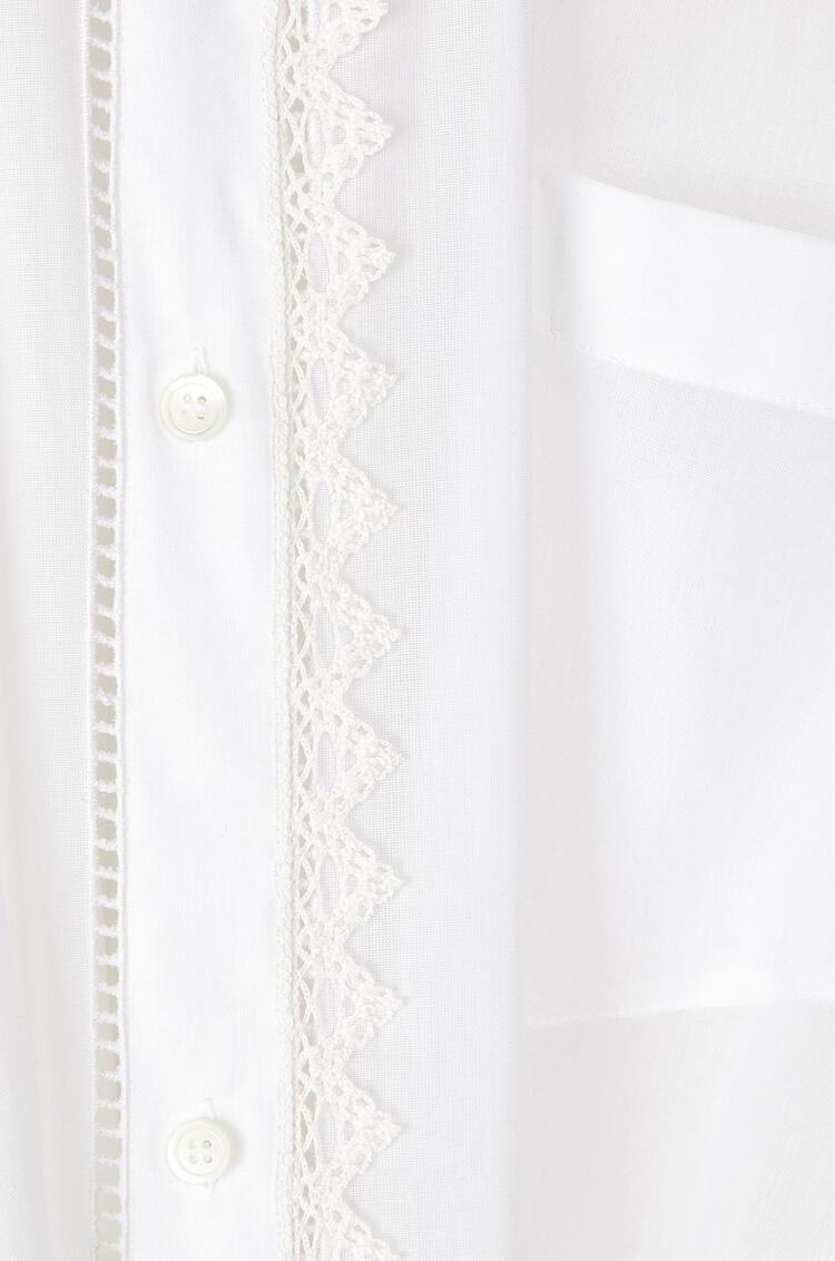 LOEWE Lace petal shirt pearls in cotton White pdp_rd