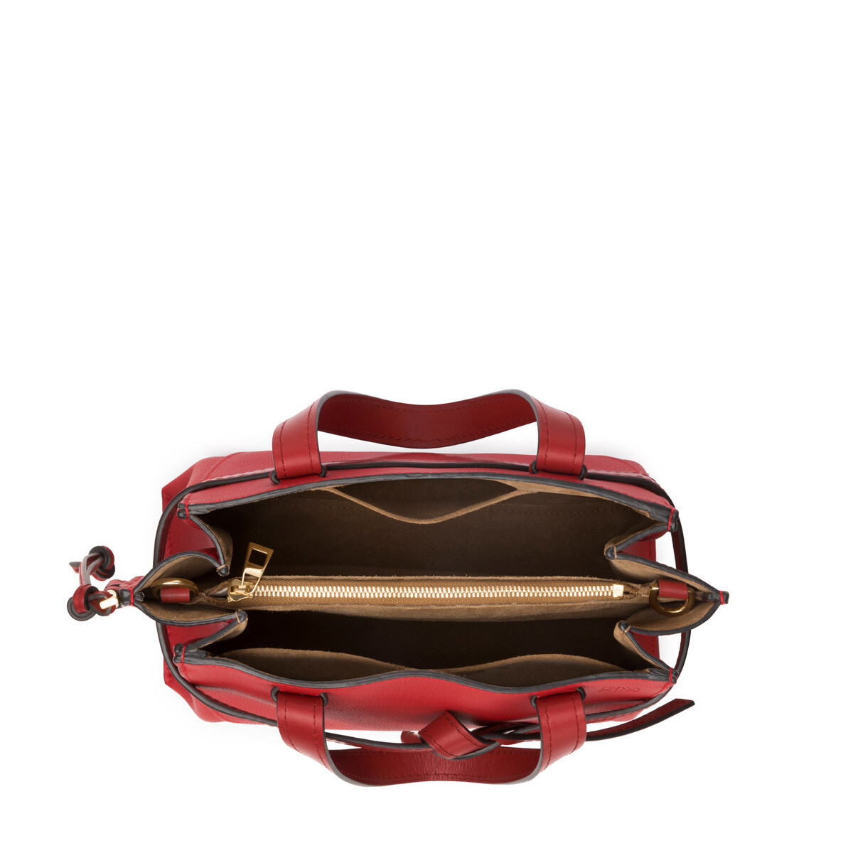 LOEWE Gate Top Handle Small Scarlet Red/Burnt Red front