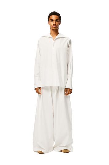 LOEWE Large Pilgrim Trousers Blanco front