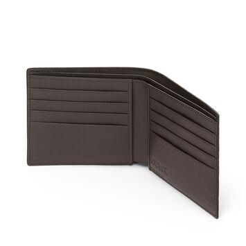 LOEWE Bifold Wallet Khaki Green/Pecan Color front