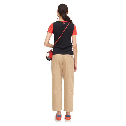 LOEWE Varsity T-Shirt Negro/Rojo all