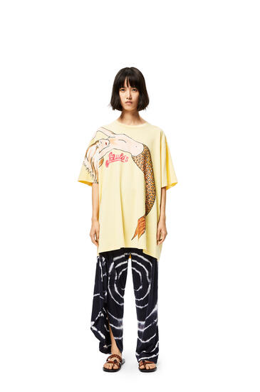 LOEWE Oversize T-shirt in mermaid cotton Light Yellow pdp_rd