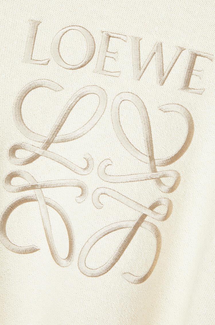 LOEWE Anagram embroidered sweatshirt in cotton Ecru/Black pdp_rd