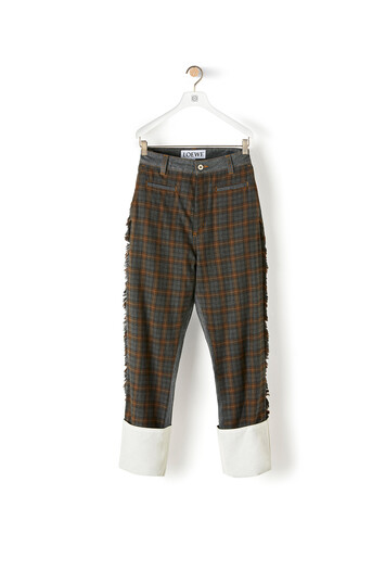 LOEWE Check Patch Fisherman Jeans Grey/Brown front