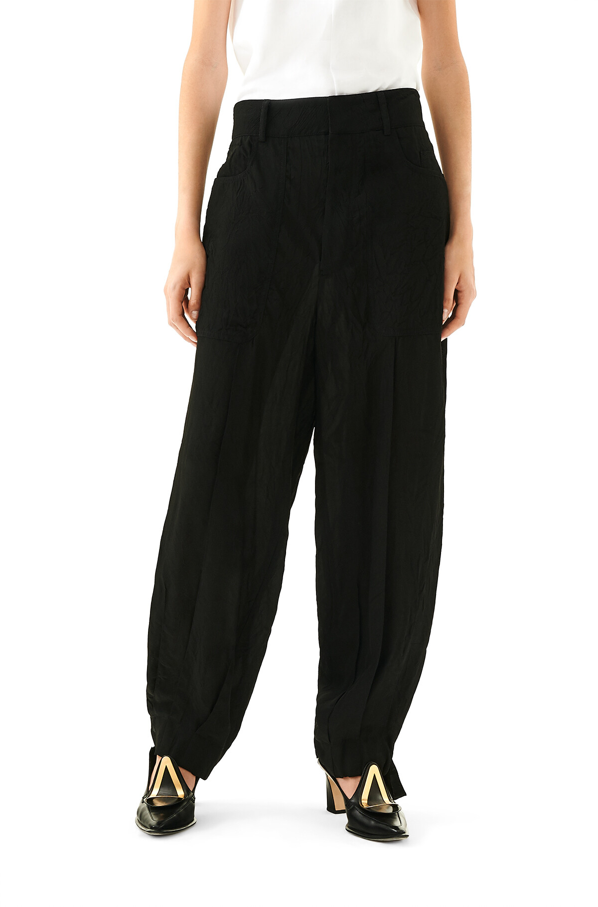 LOEWE Balloon Trousers 黑色 front