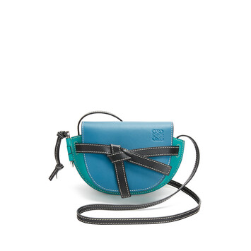 LOEWE Gate Mini Bag Dark Lagoon/Emerald front
