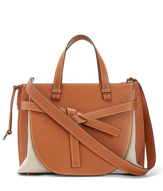 LOEWE Gate Top Handle Bag Tan/Natural front