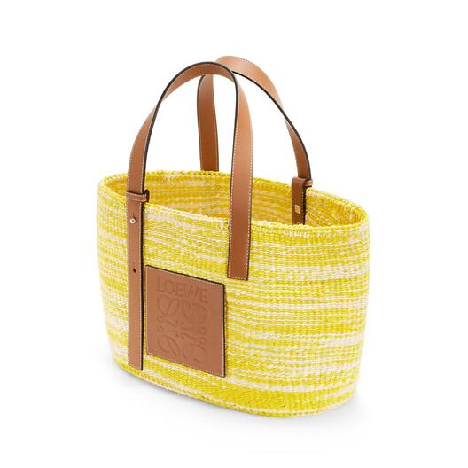 LOEWE Paula's Basket Small Bag Yellow/Tan front