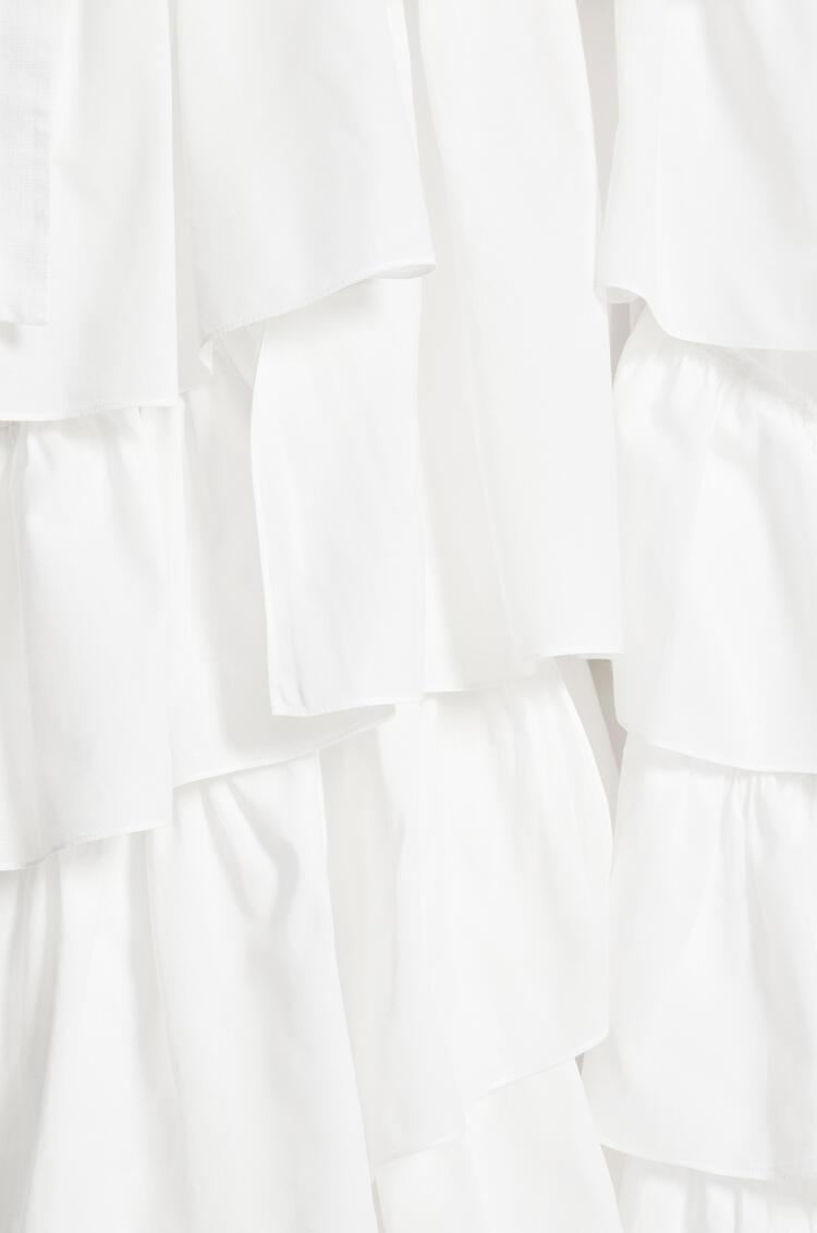 LOEWE ラッフル ドレス (リネン) ホワイト pdp_rd