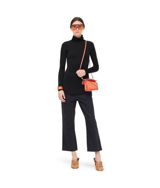LOEWE High Neck Long Slv Top Black front