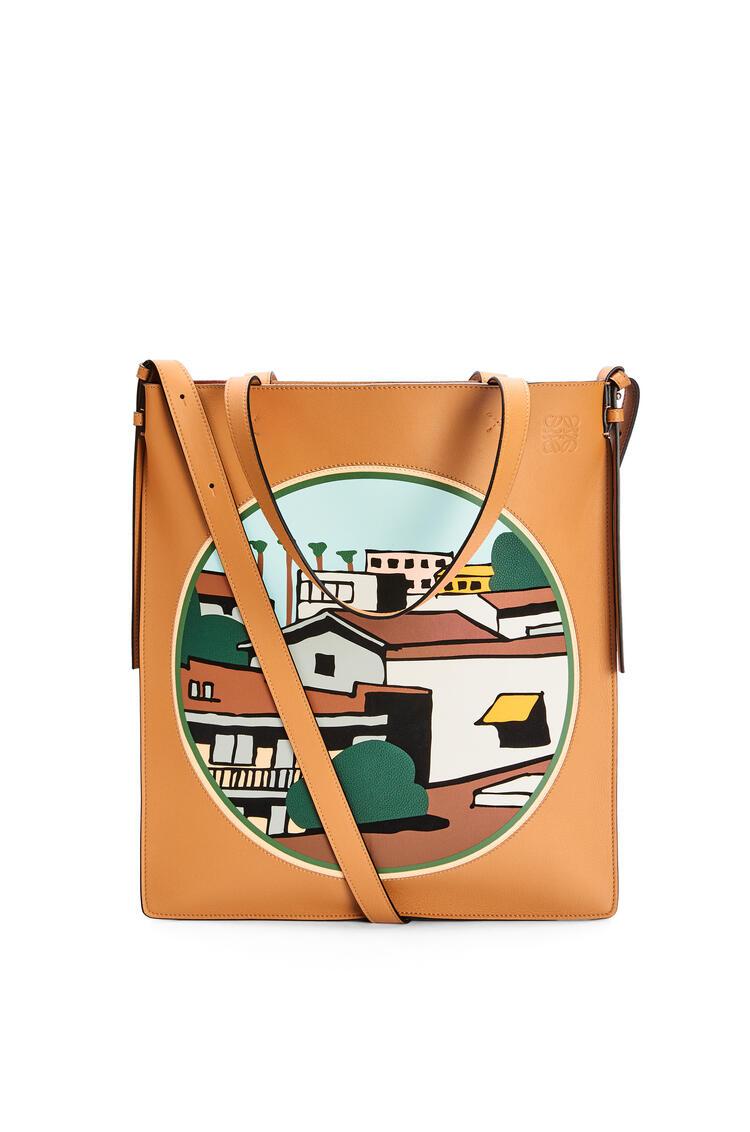 LOEWE L.A. シリーズ バーティカル トートバッグ (クラシックカーフ) Amber/Multicolor pdp_rd