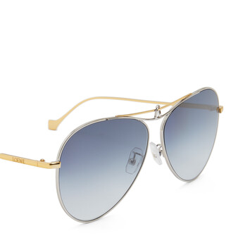 LOEWE Metal Knot Pilot Sunglasses Gold/Blue front