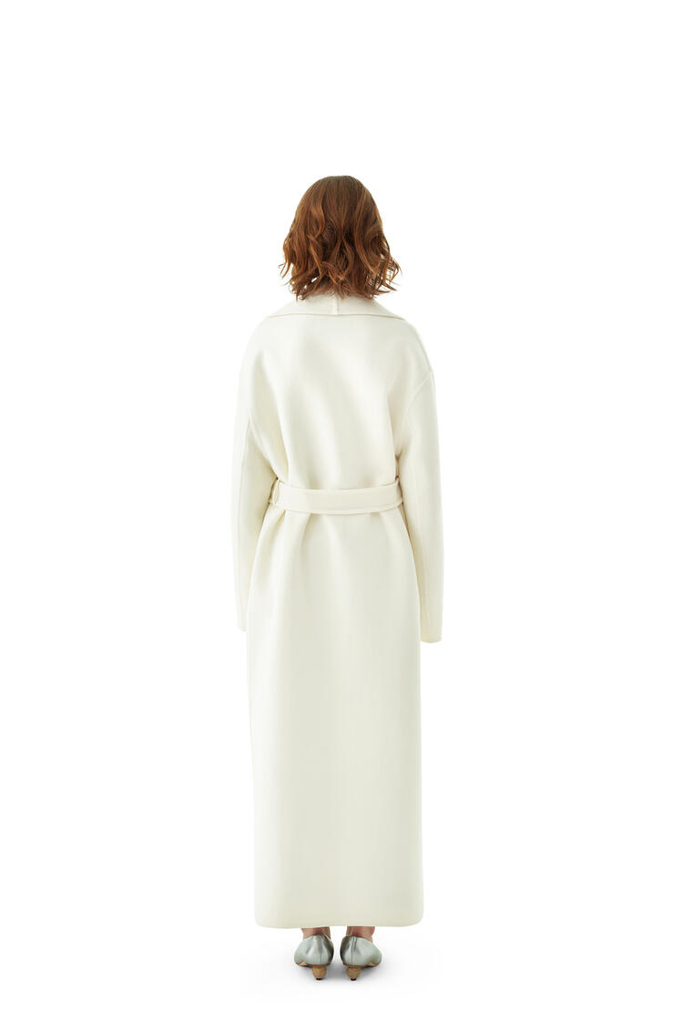 LOEWE Robe Coat In Cashmere And Silk Off-white pdp_rd