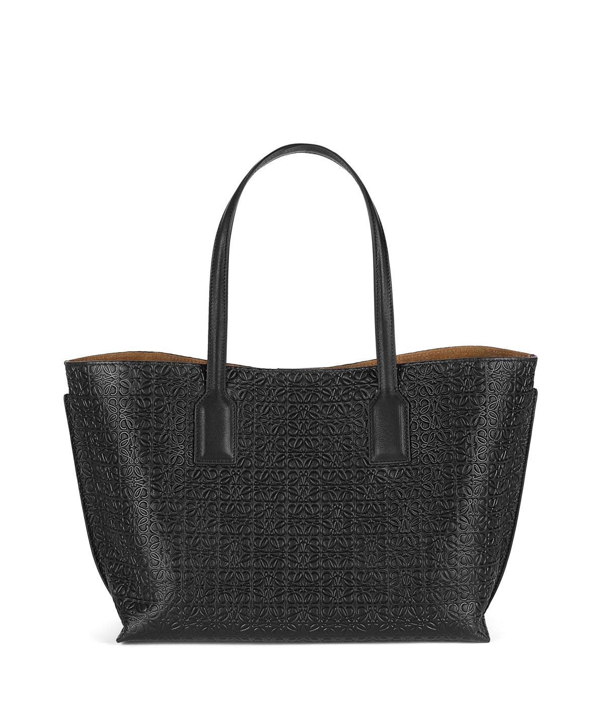 LOEWE T Shopper Bag Black front