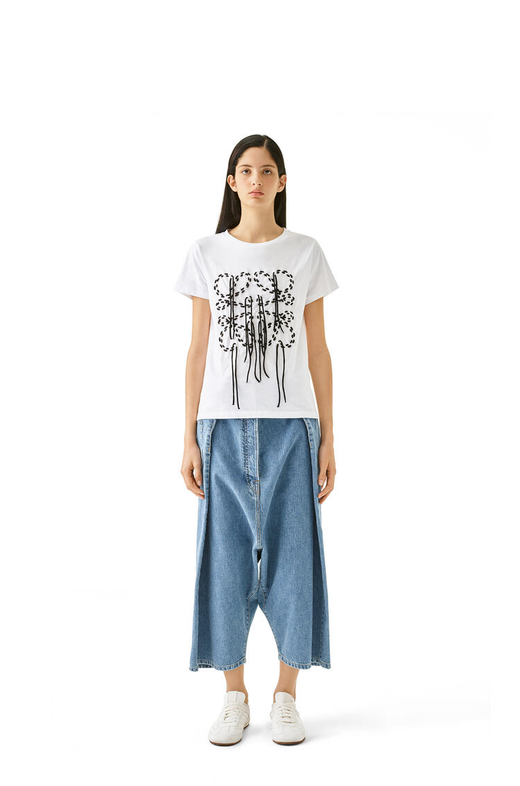 LOEWE Oversize Cropped Jeans In Cotton Indigo pdp_rd