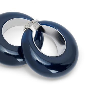 LOEWE Loop Earrings 海军蓝 front