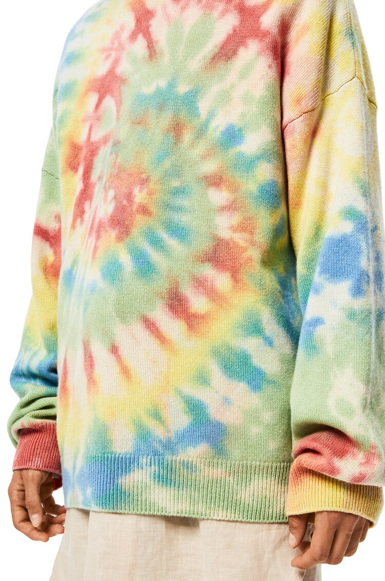 LOEWE Sweater In Tie Dye Cashmere Multicolor/Green pdp_rd