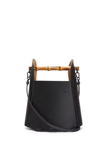 LOEWE Bamboo bucket bag in calfskin Black pdp_rd