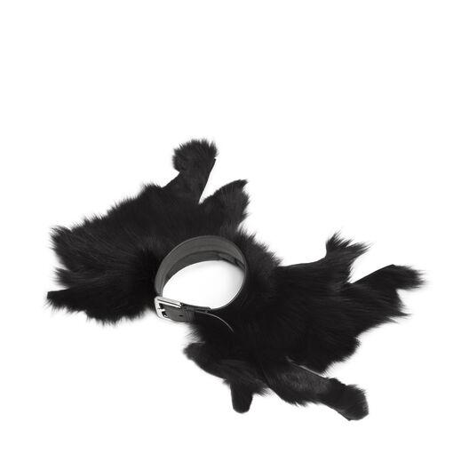 LOEWE ファーカラー ブラック/パラジウム all