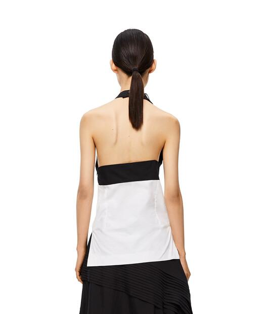 LOEWE Bicolor Halterneck Top Winter White/Black front