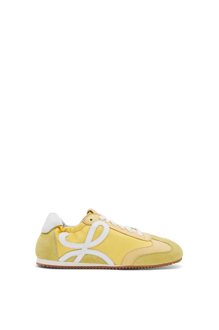 LOEWE Ballet runner in calfskin and nylon Light Yellow pdp_rd