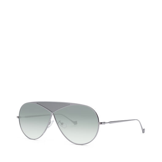 LOEWE Gafas Puzzle Piloto Rodio Brillo/Humo Degradado all