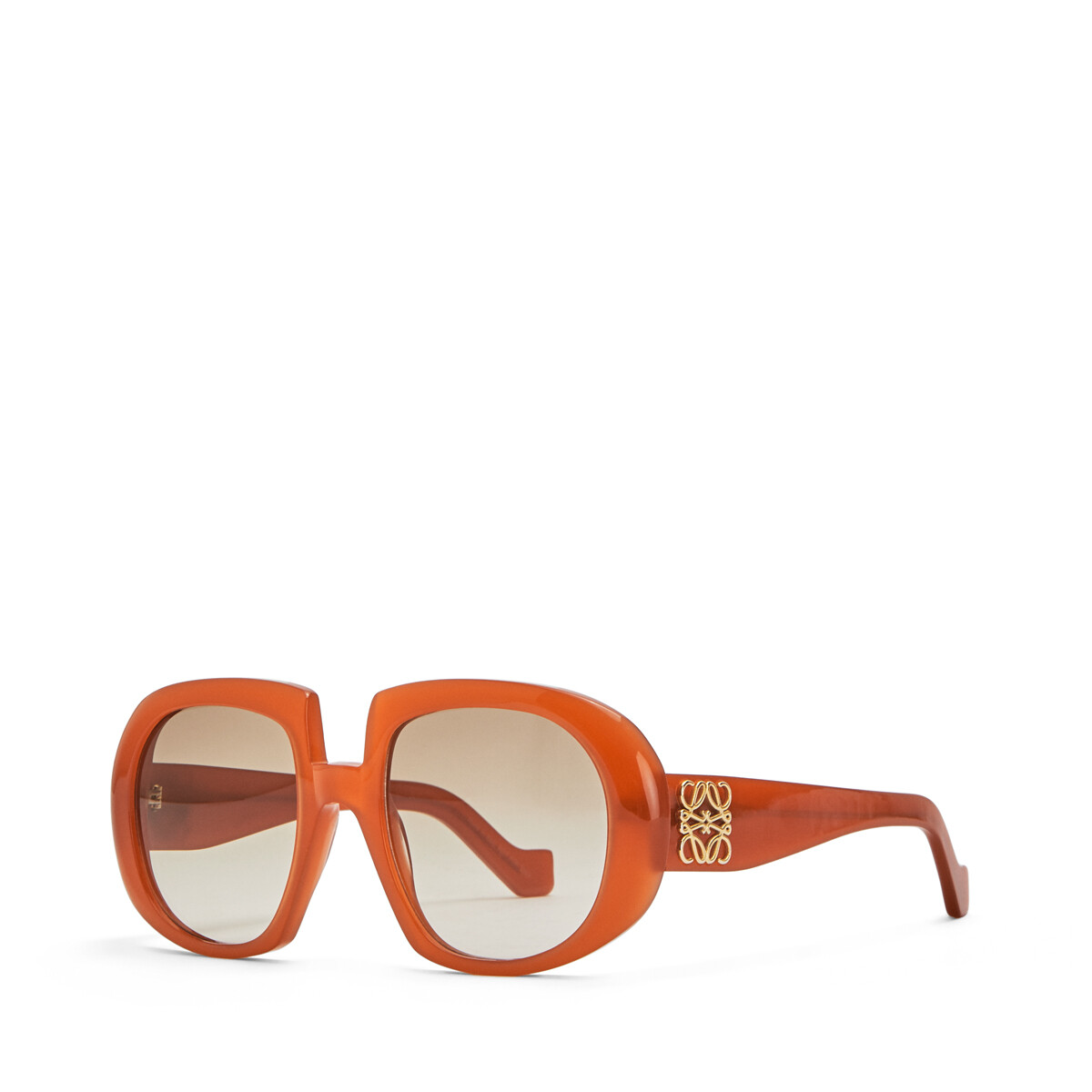 LOEWE Acetate Anagram Sunglasses Brown/Rust Color front