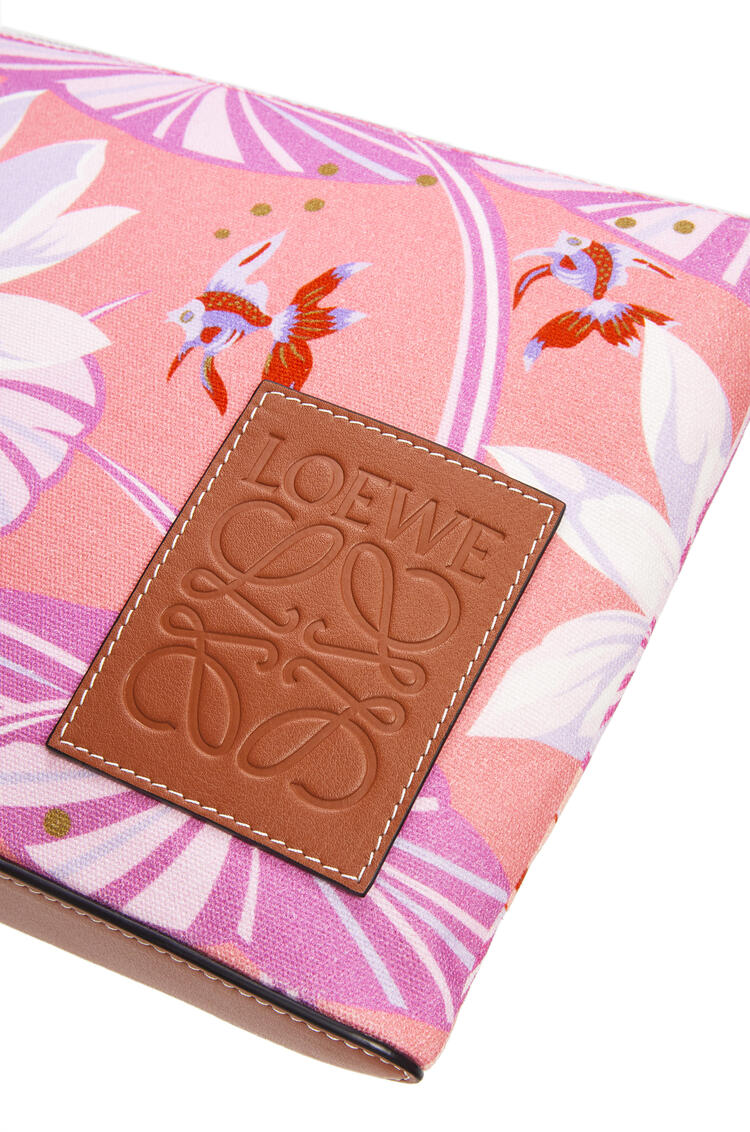 LOEWE Oblong pouch in printed canvas Salmon/Pink pdp_rd