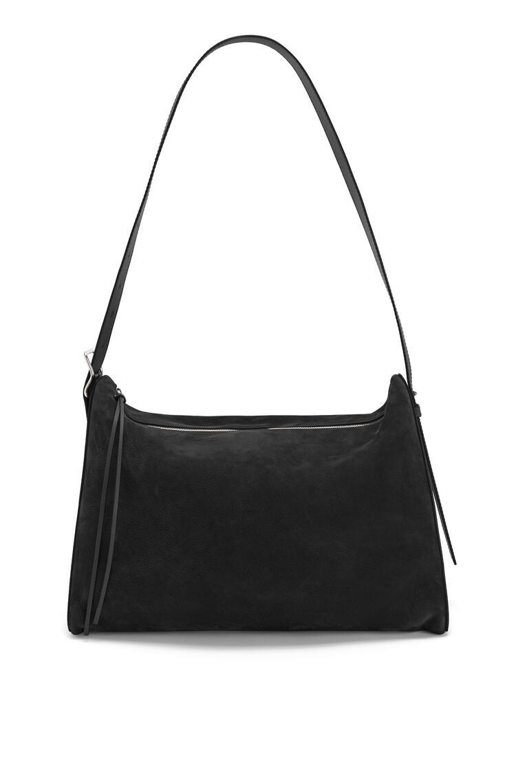 LOEWE Large Berlingo Bag In Nubuck And Calfskin Black pdp_rd