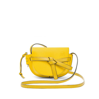 LOEWE Mini Gate Bag Yellow front