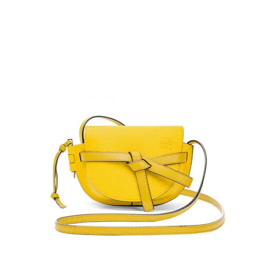LOEWE Mini Gate Bag 黄色 all