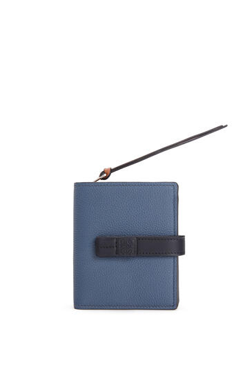 LOEWE Compact zip wallet in soft grained calfskin Indigo Dye/Black pdp_rd