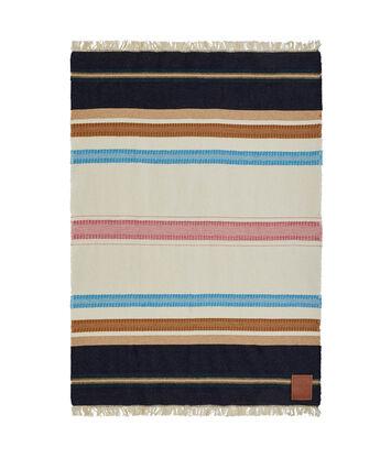 LOEWE 140X200 Paula Stripe Blanket Multicolor/Blanco front