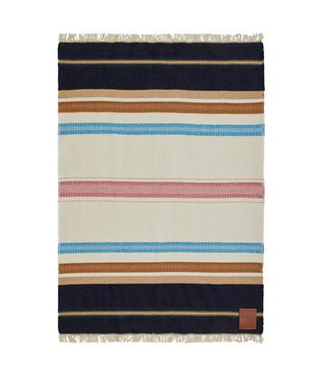 LOEWE 140X200 Paula Stripe Blanket Multicolor/White front