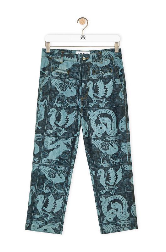 LOEWE Fisherman Pants (To Turn Up) Azul Denim front