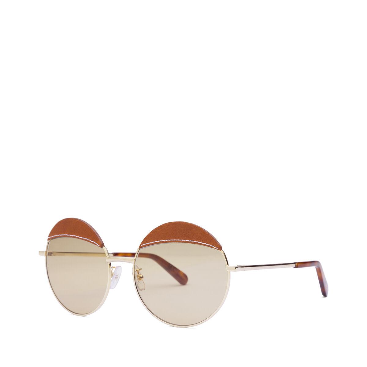 LOEWE Round Sticth Sunglasses Brown/Light Brown front