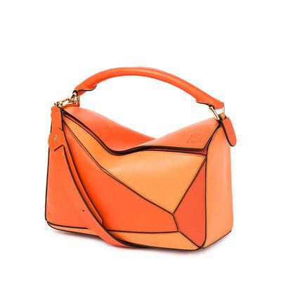 LOEWE Puzzle Bag Orange Multitone front