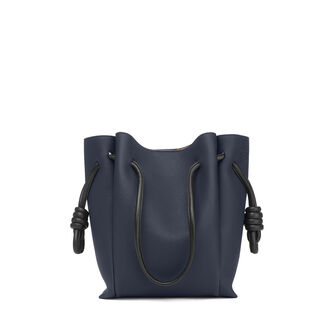 LOEWE Flamenco Knot Tote Small Midnight Blue/Black front