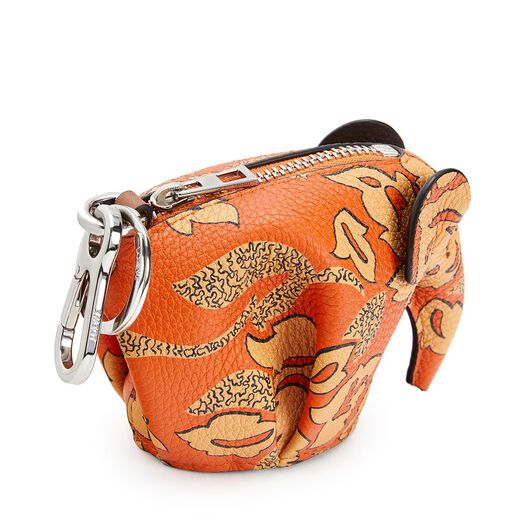LOEWE Paula Elephant Charm Orange/Tan front