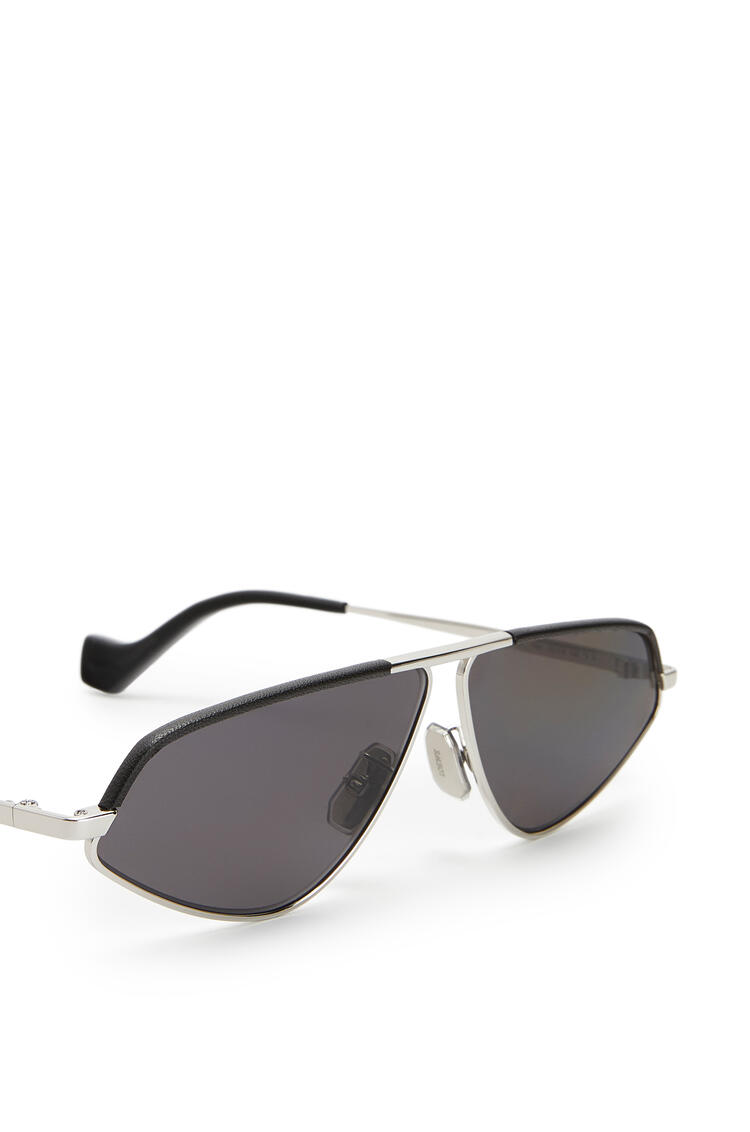 LOEWE Leather geometric sunglasses Anthracite pdp_rd