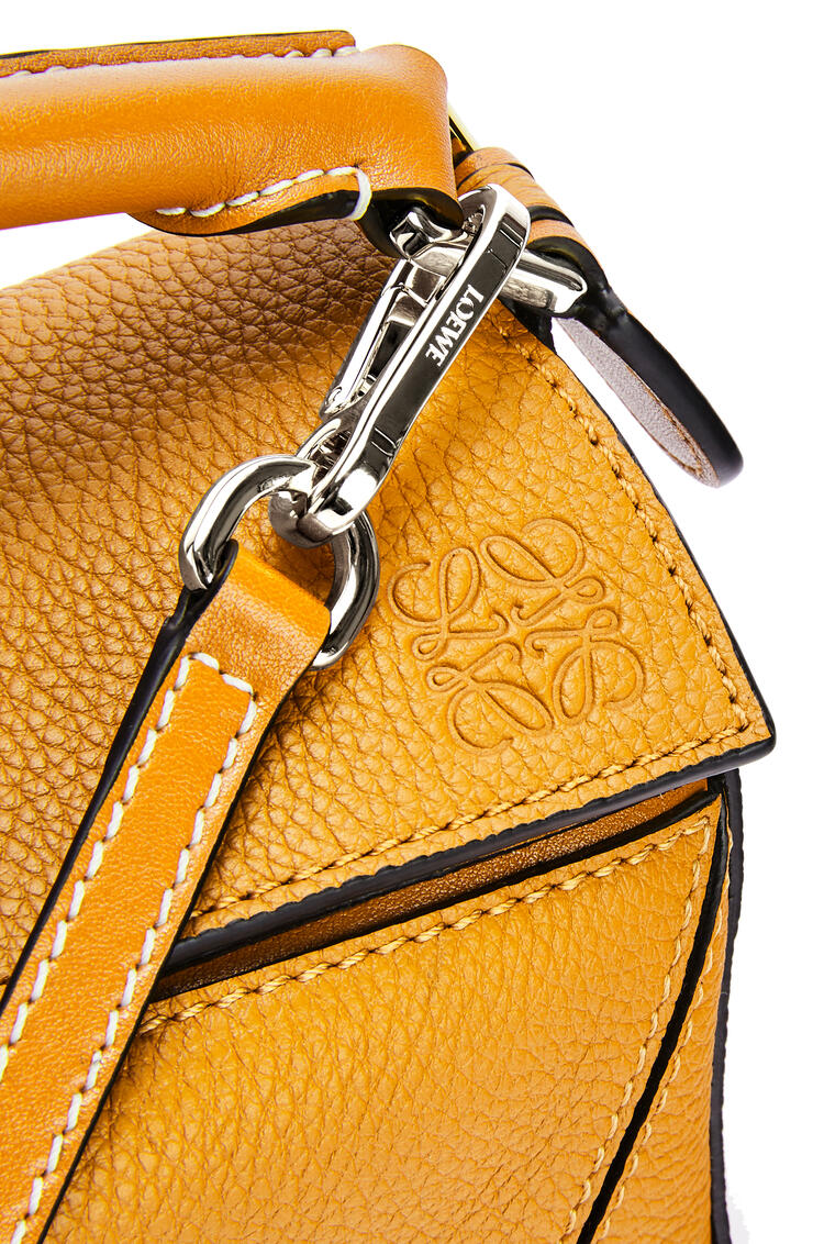 LOEWE Mini Puzzle bag in soft grained calfskin Sunflower pdp_rd