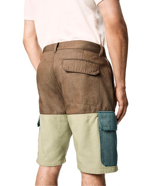 LOEWE Short Eln Trousers Verde Khaki/Verde front