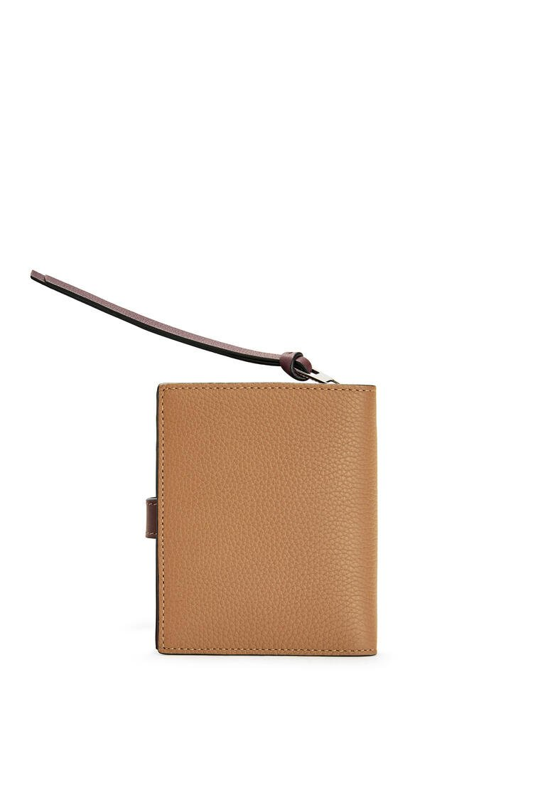 LOEWE Compact Zip Wallet In Soft Grained Calfskin Light Caramel/Pecan pdp_rd